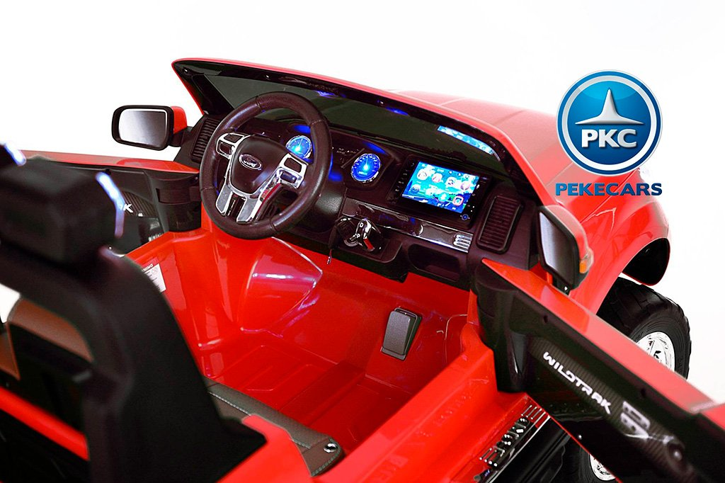 Todoterreno electrico infantil Ford Ranger MP4 Rojo salpicadero