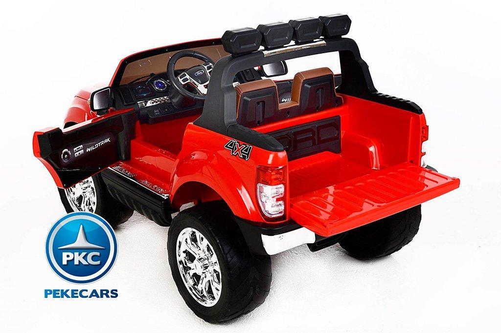 Todoterreno electrico para niños Ford Ranger MP4 Rojo asiento acolchado
