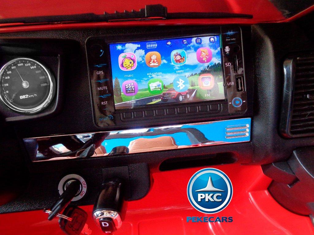 Todoterreno electrico infantil Ford Ranger MP4 Rojo maletero trasero