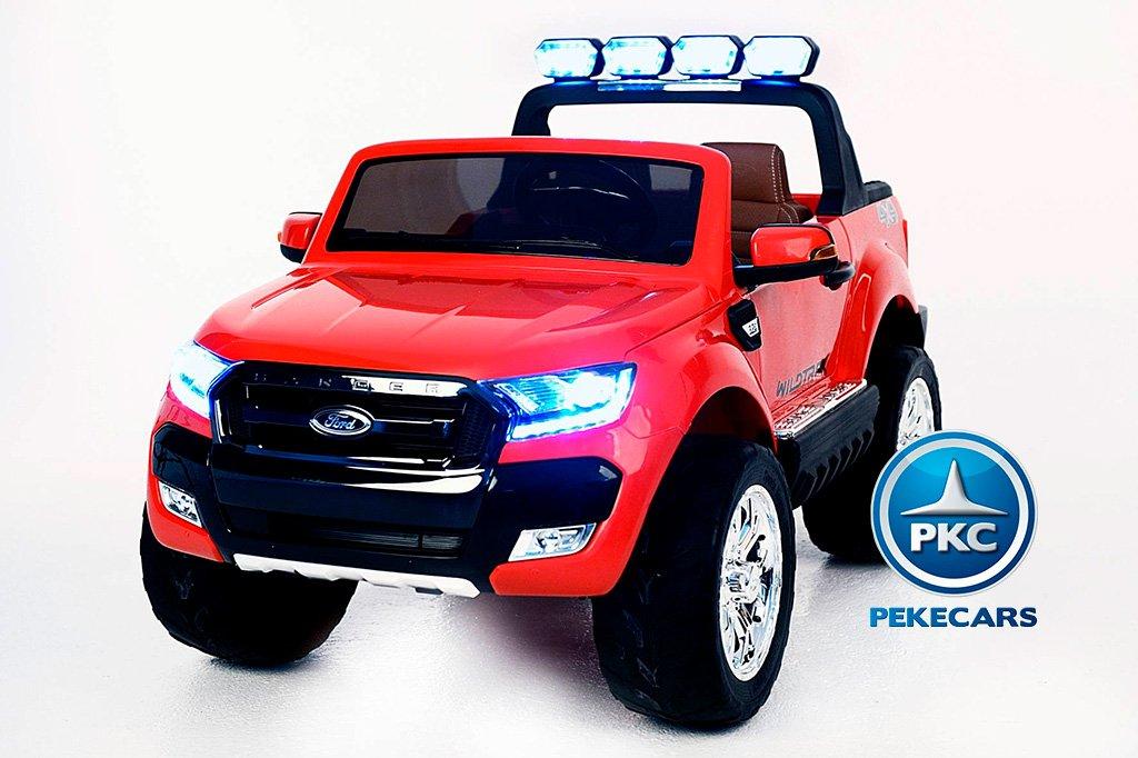 Todoterreno electrico para niños Ford Ranger MP4 Rojo vista frontal