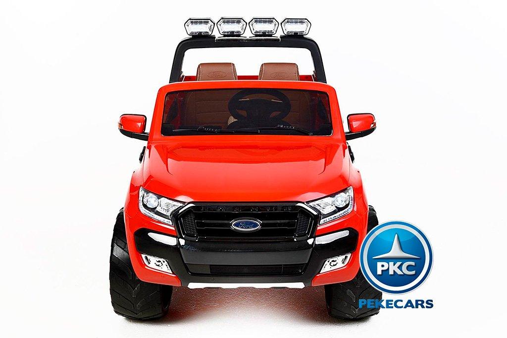 Todoterreno electrico infantil Ford Ranger MP4 Rojo con apertura de puertas