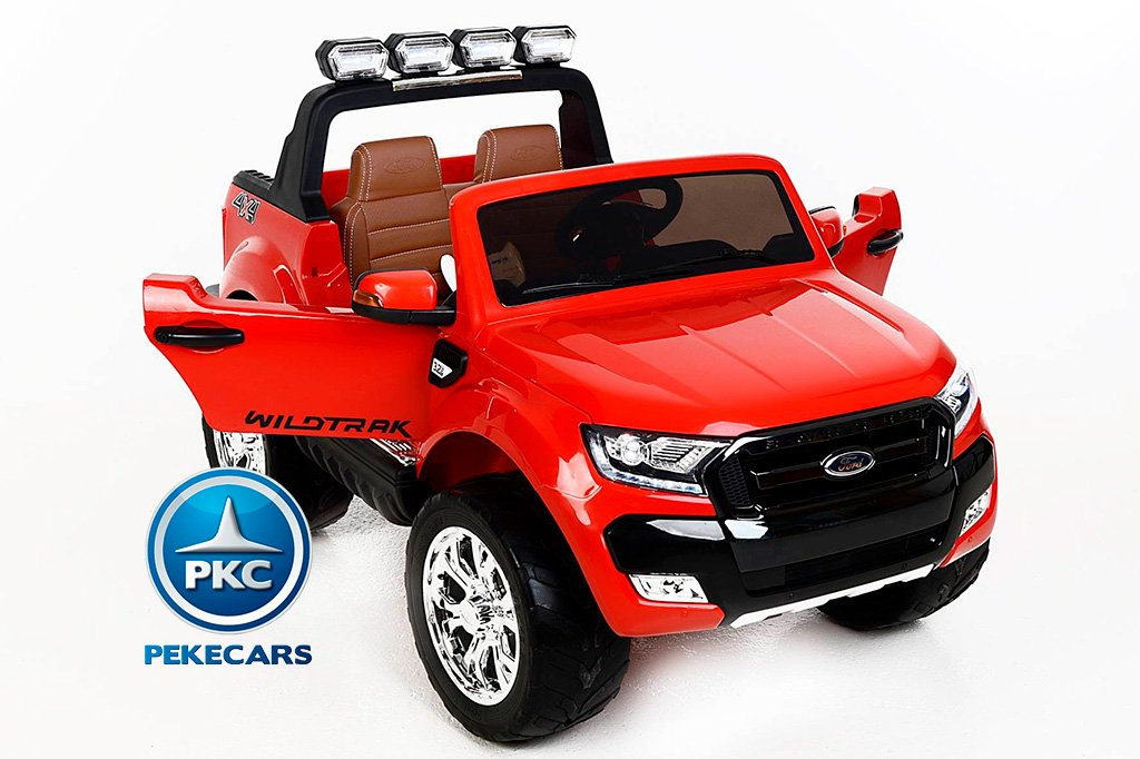 Todoterreno electrico infantil Ford Ranger MP4 Rojo pantalla