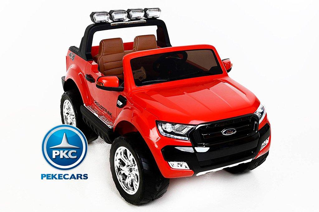 Todoterreno electrico para niños Ford Ranger MP4 Rojo