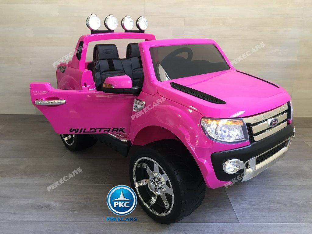 Todoterreno electrico infantil Ford Ranger Rosa vista principal