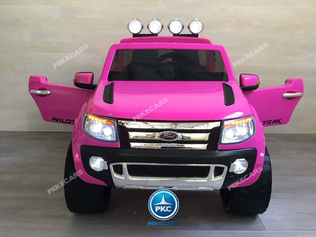 Todoterreno electrico para niños Ford Ranger Rosa vista frontal