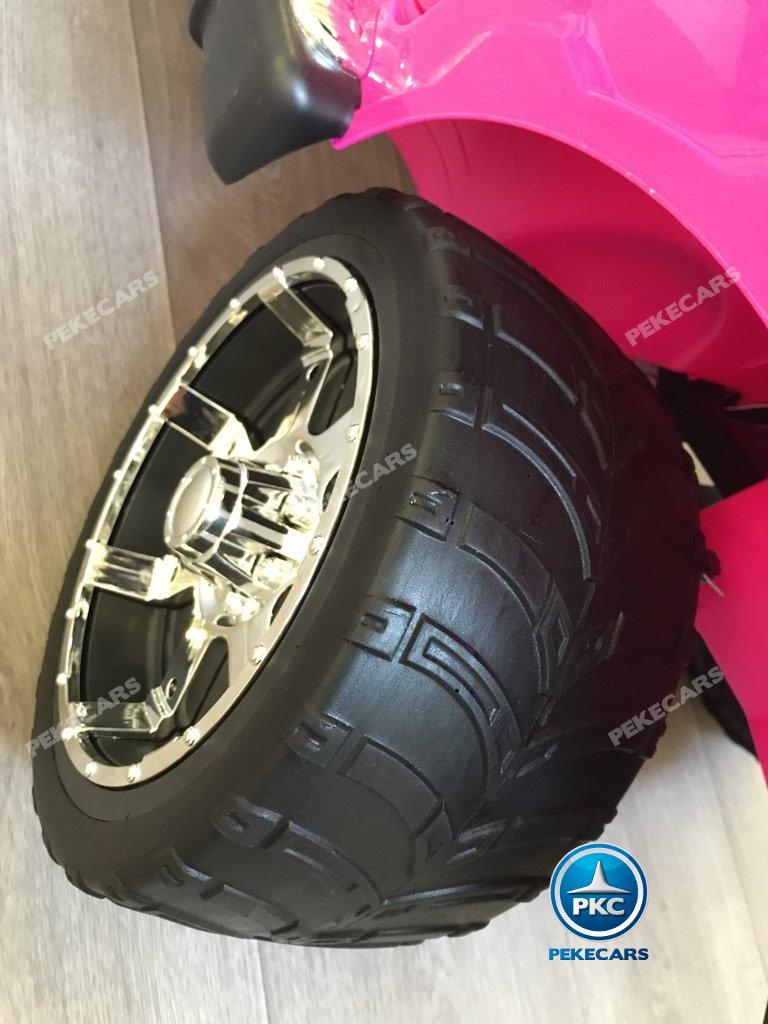 Todoterreno electrico para niños Ford Ranger Rosa con ruedas de caucho antipinchazos