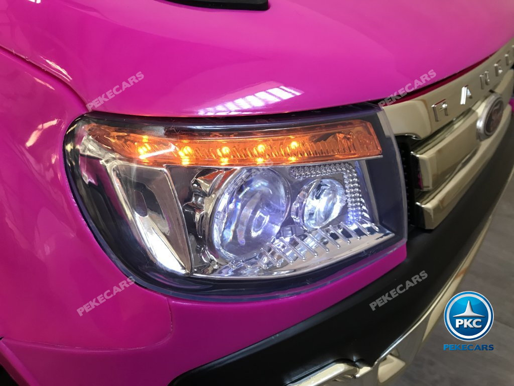 Todoterreno electrico infantil Ford Ranger Rosa con luces led