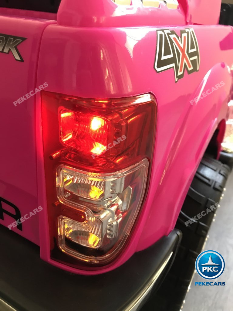 Todoterreno electrico para niños Ford Ranger Rosa luces led traseras rojas
