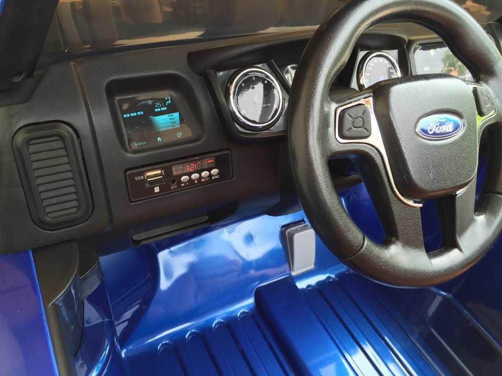 Todoterreno electrico infantil Ford Ranger Azul Metalizado conexion usb