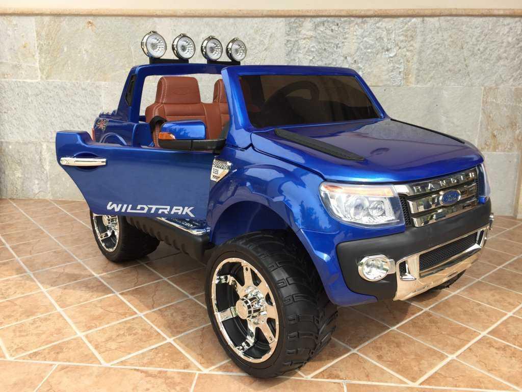 Todoterreno electrico para niños Ford Ranger Azul Metalizado vista frontal