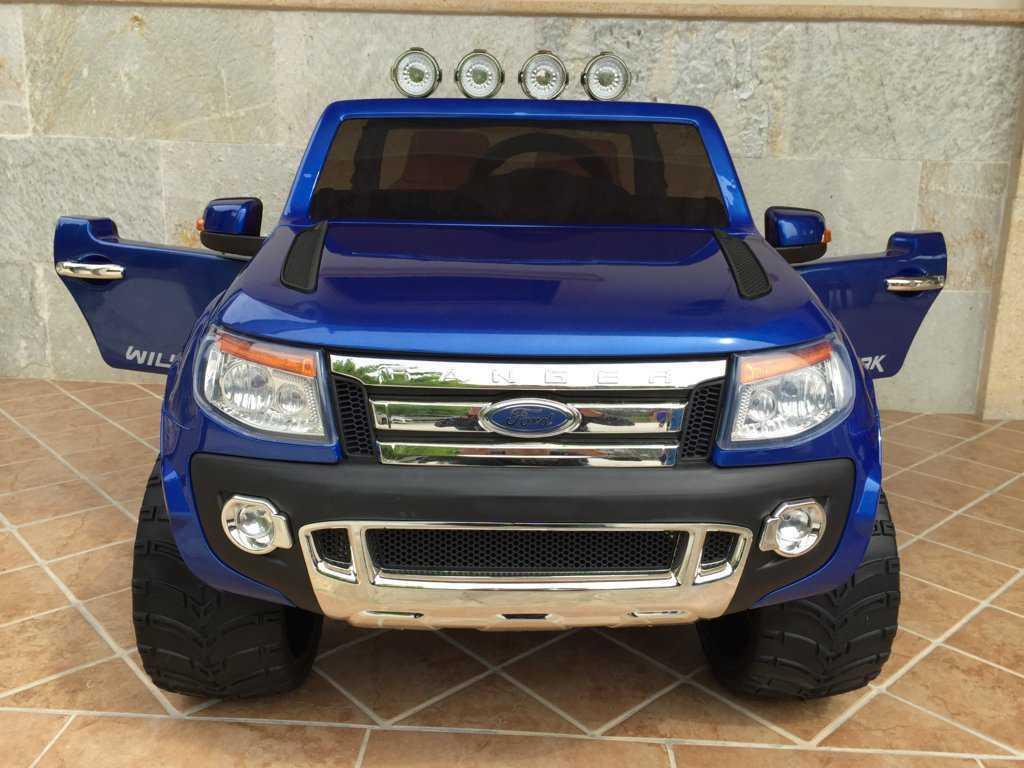 Todoterreno electrico infantil Ford Ranger Azul Metalizado frontal