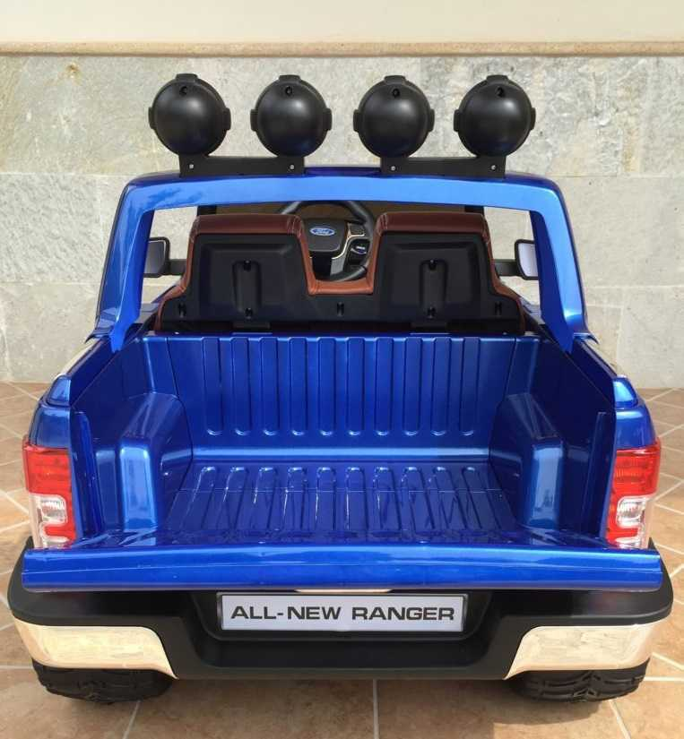 Todoterreno electrico para niños Ford Ranger Azul Metalizado asiento acolchado