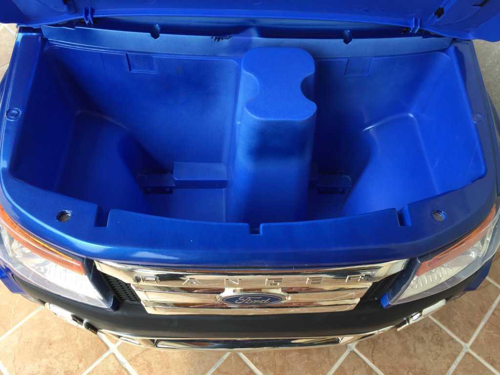 Todoterreno electrico para niños Ford Ranger Azul Metalizado luces led