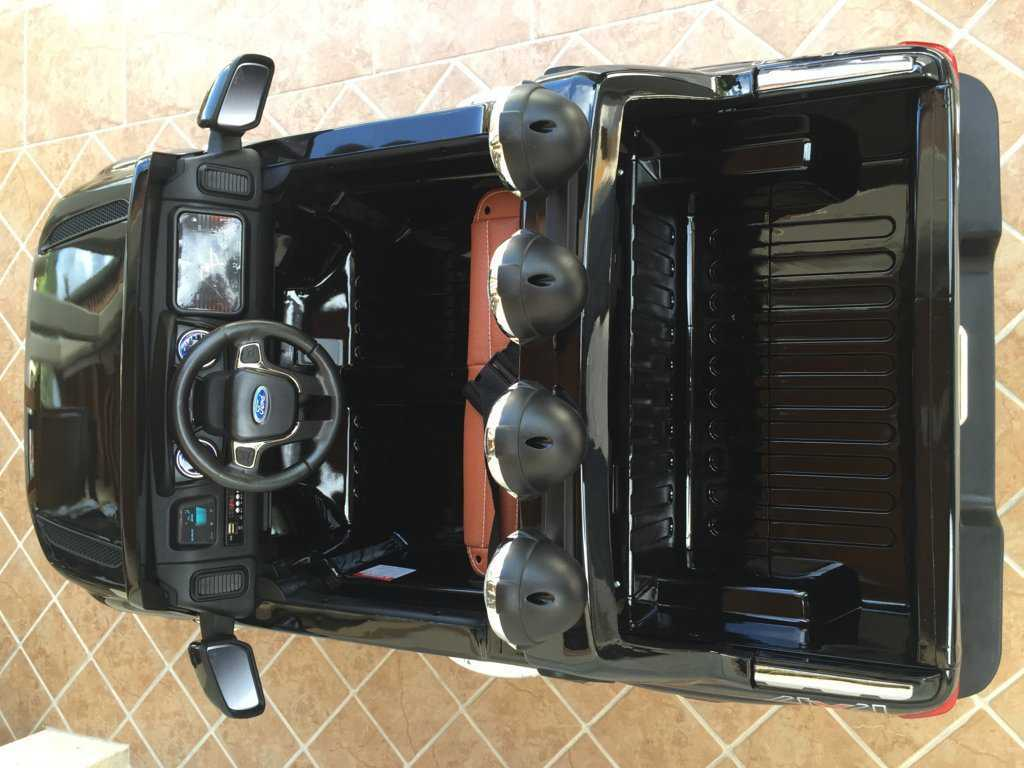 Todoterreno electrico para niños Ford Ranger Negro Metalizado luces led
