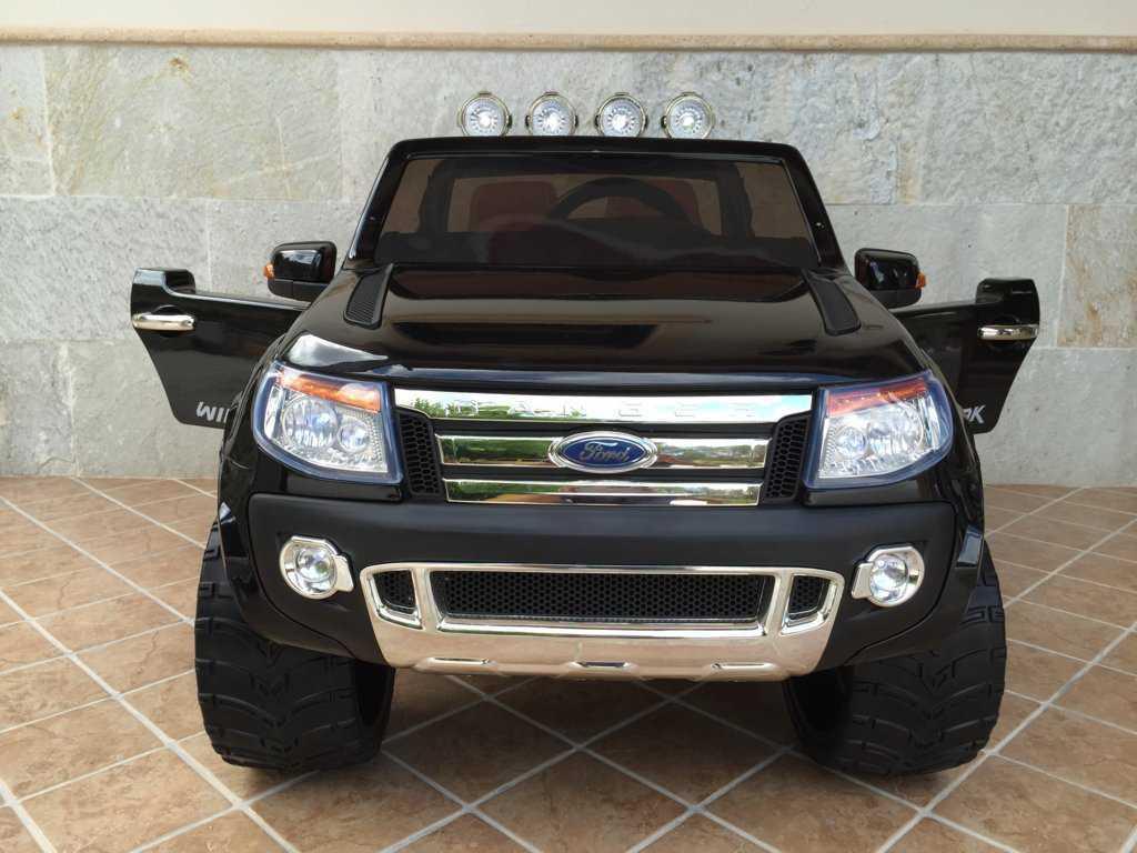 Todoterreno electrico para niños Ford Ranger Negro Metalizado asiento acolchado