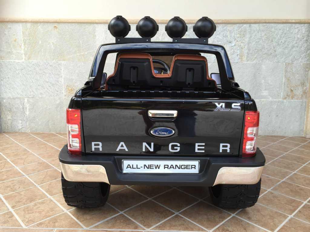 Todoterreno electrico para niños Ford Ranger Negro Metalizado