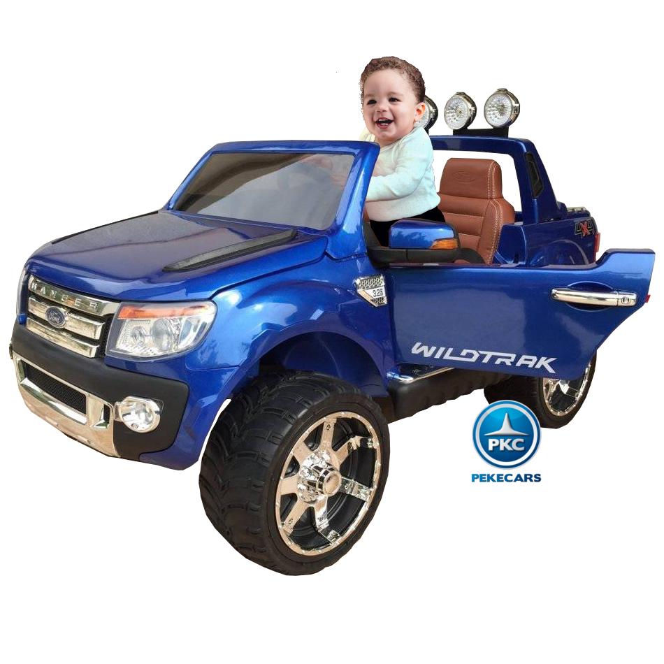 Todoterreno electrico infantil Ford Ranger Azul Metalizado vista principal