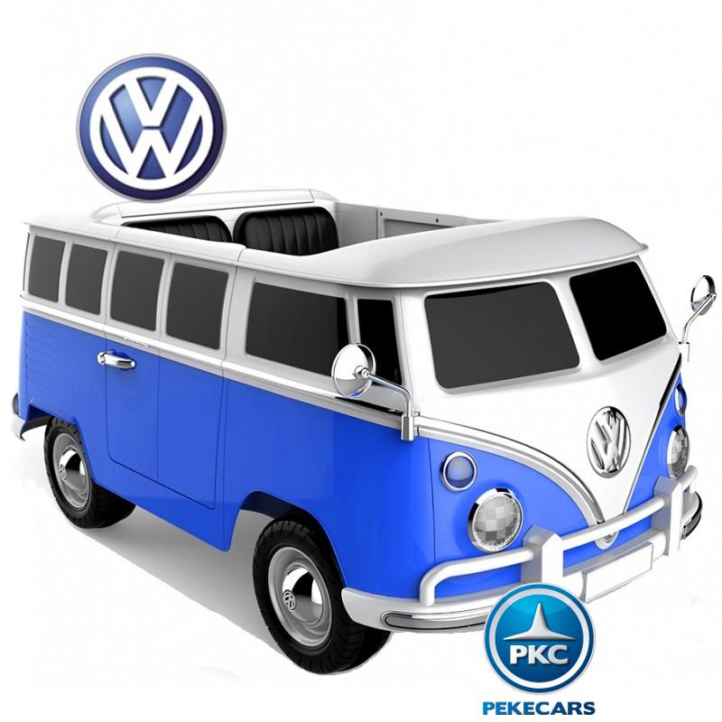 Furgoneta Volkswagen para niños 12V 2 Plazas Azul vista principal