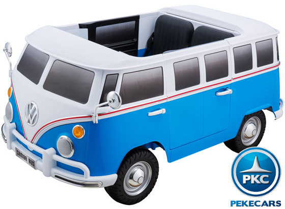 Furgoneta Volkswagen para niños 12V 2 Plazas Azul