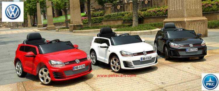 14451575d Golf GTI para niños 12V, 2.4G con asiento en piel y ruedas de caucho