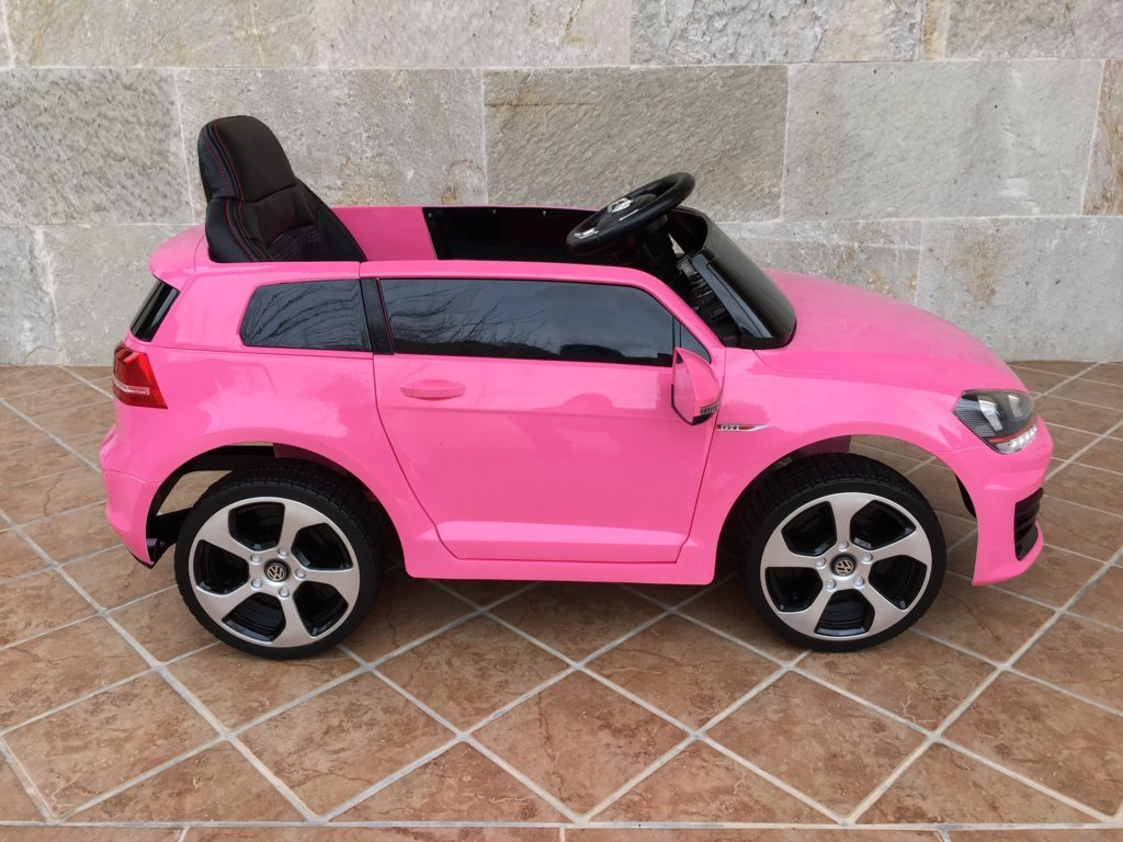 Coche electrico infantil golf gti 12v rosa pekecars for Asientos infantiles coche