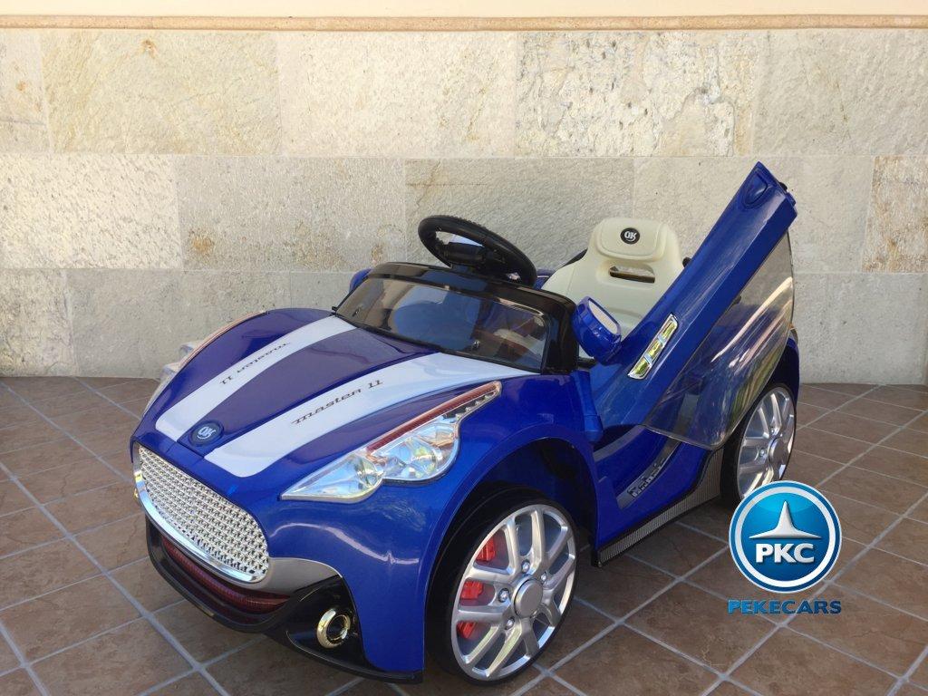 Coche electrico para niños GT Deportivo Azul vista principal