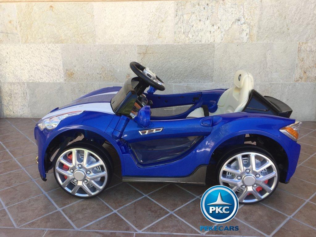 Coche electrico para niños GT Deportivo Azul lateral