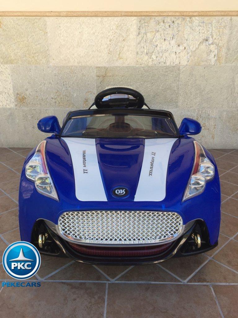 Coche electrico para niños GT Deportivo Azul frontal