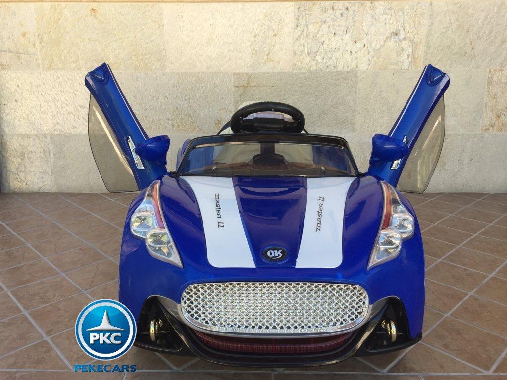 Coche electrico para niños GT Deportivo Azul con apertura de puertas