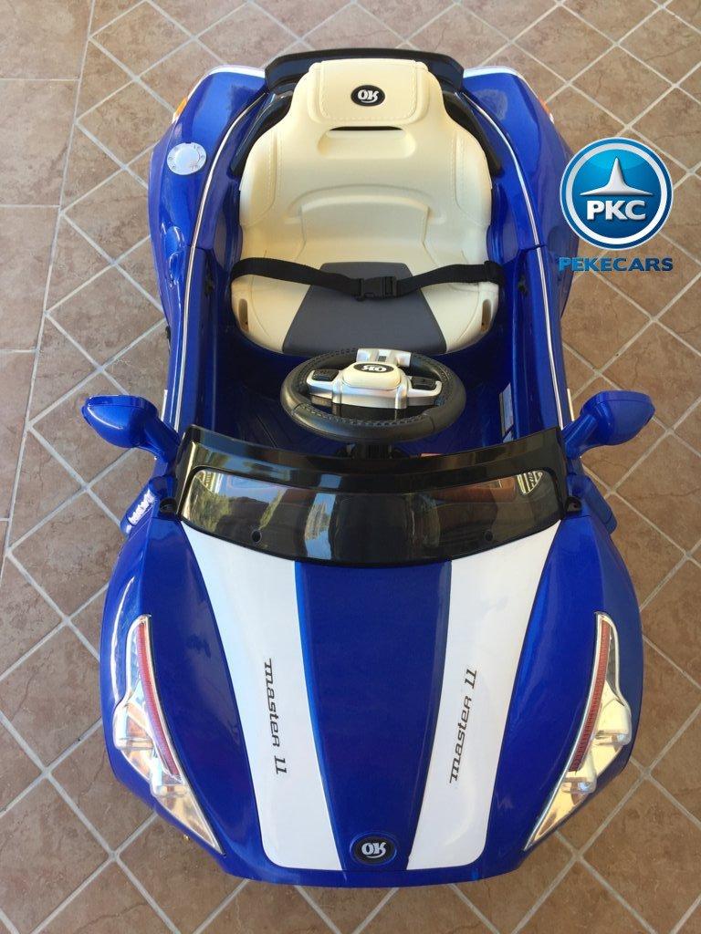 Coche electrico para niños GT Deportivo Azul capo