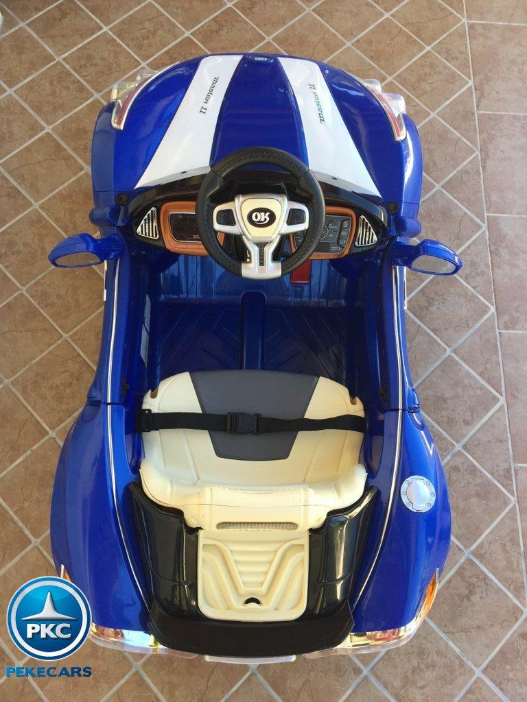Coche electrico para niños GT Deportivo Azul detalles interior