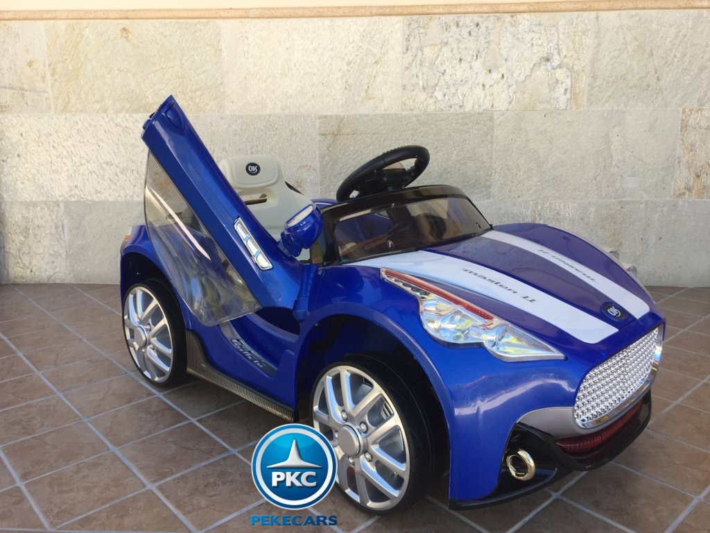 Coche electrico para niños GT Deportivo Azul apertura lambo