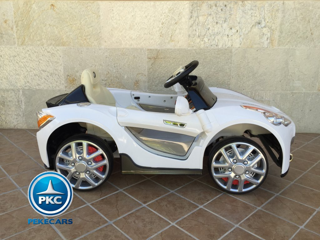 Coche electrico infantil GT Deportivo Blanco lateral
