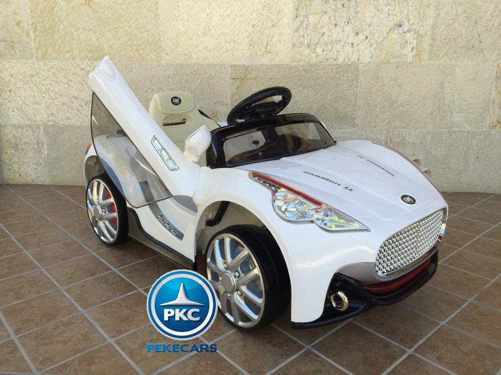 Coche electrico para niños GT Deportivo Blanco con apertura de puertas