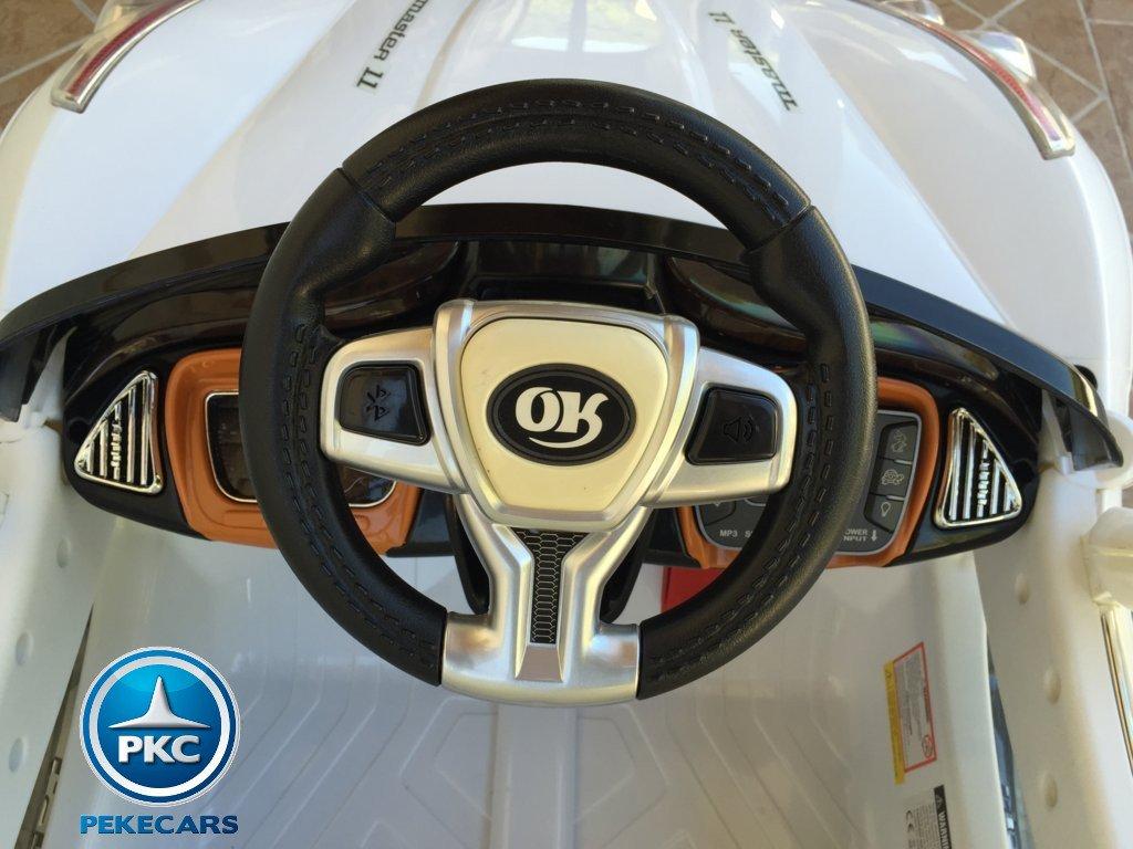 Coche electrico infantil GT Deportivo Blanco volante