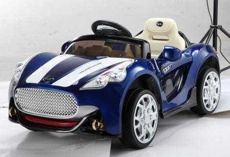 c98bd5b3c Coche electrico infantil12V GT deportivo azul metalizado Mazaratti Style