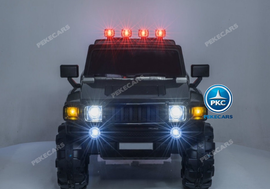 Todoterreno electrico para niños Big Hummer Style 2 plazas Blanco con luces LED