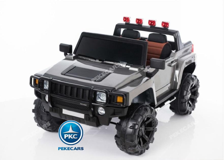 Todoterreno electrico infantil Big Hummer Style 2 plazas Plata Metalizado vista principal