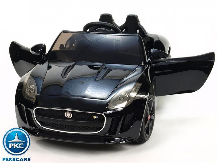 Coche electrico para niños Jaguar F-Type negro metalizado apertura de puertas