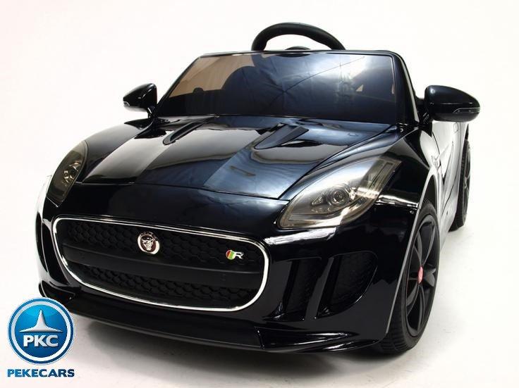 Coche electrico para niños Jaguar F-Type negro metalizado