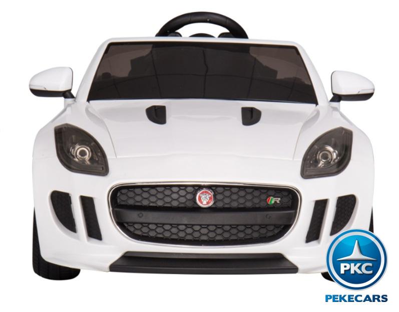 Coche electrico para niños Jaguar F-Type blanco vista principal
