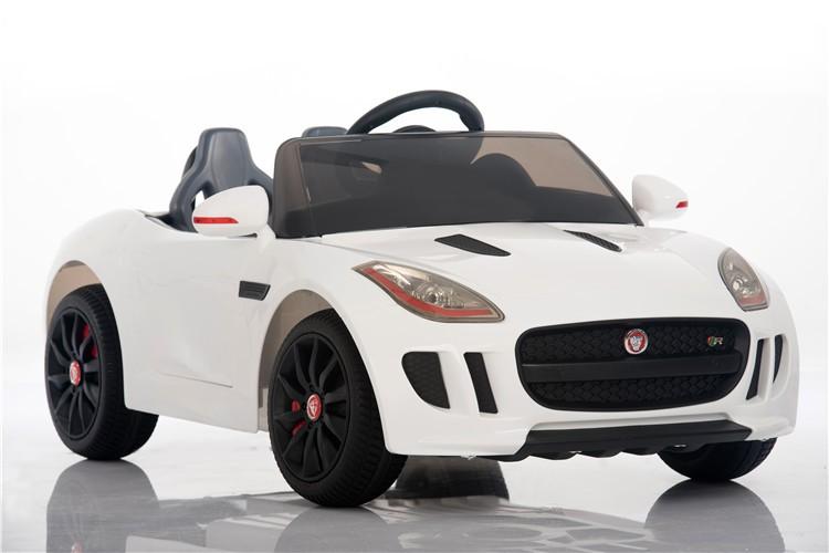 Coche electrico para niños Jaguar F-Type blanco