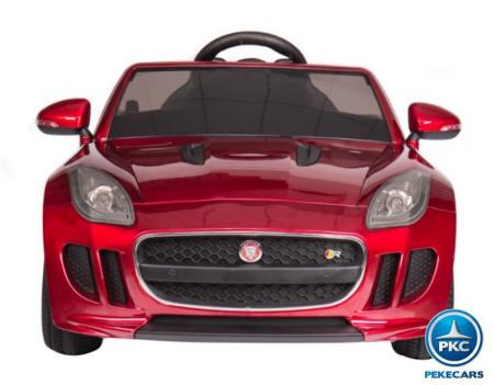 Coche electrico para niños Jaguar F-Type rojo metalizado vista principal