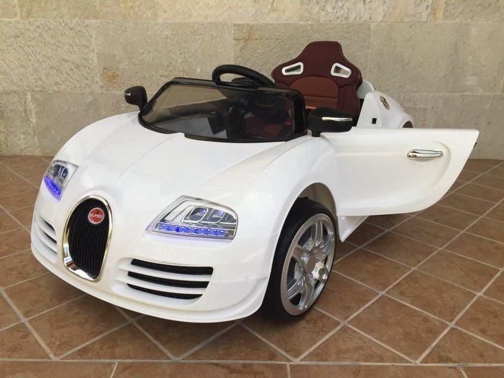 Coche electrico para niños Bugatti Veyron Style Blanco vista principal