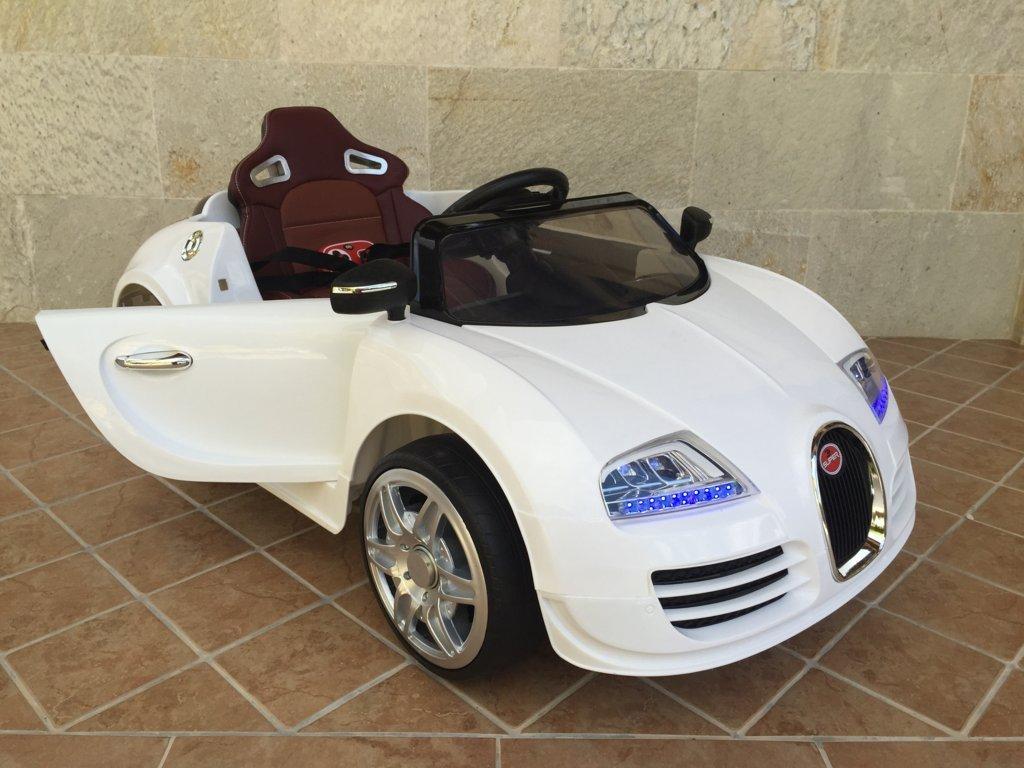 Coche electrico Infantil Bugatti Veyron Style Blanco con apertura de puertas