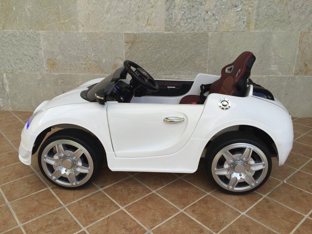 Coche electrico Infantil Bugatti Veyron Style Blanco vista lateral