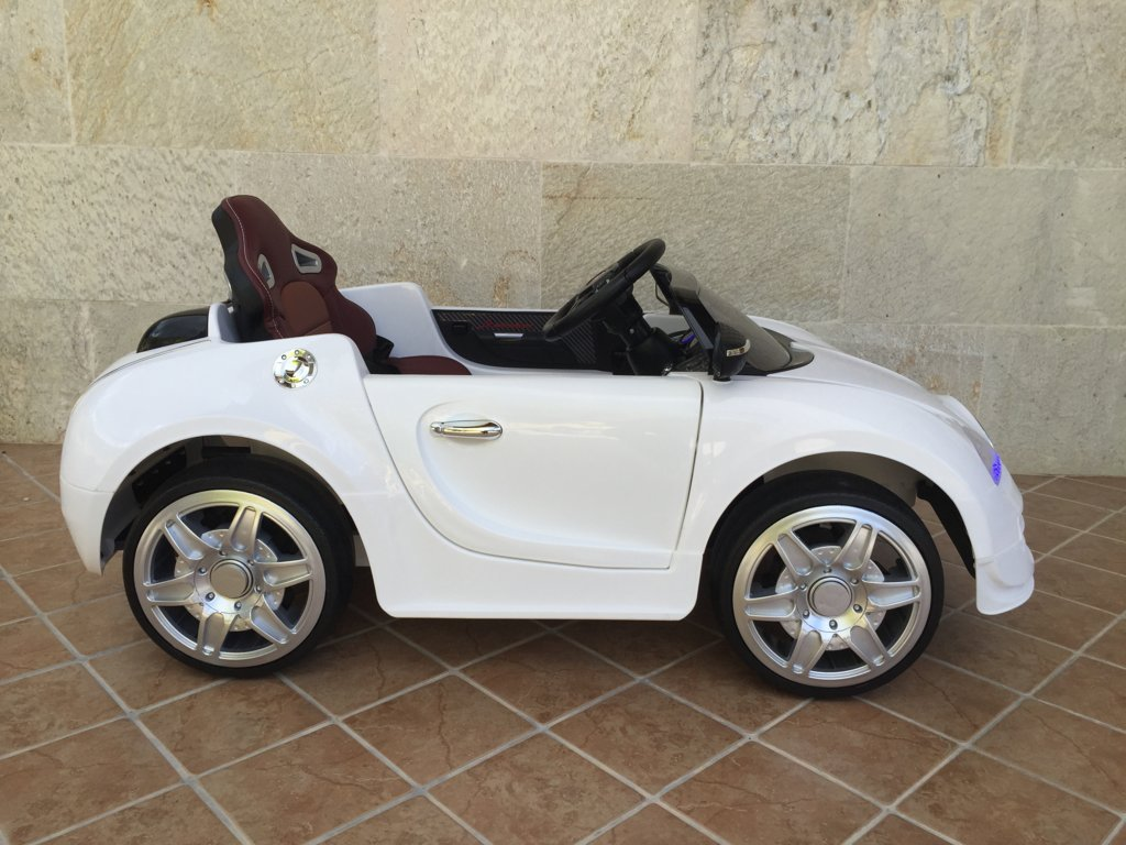 Coche electrico para niños Bugatti Veyron Style Blanco con asiento ajustable
