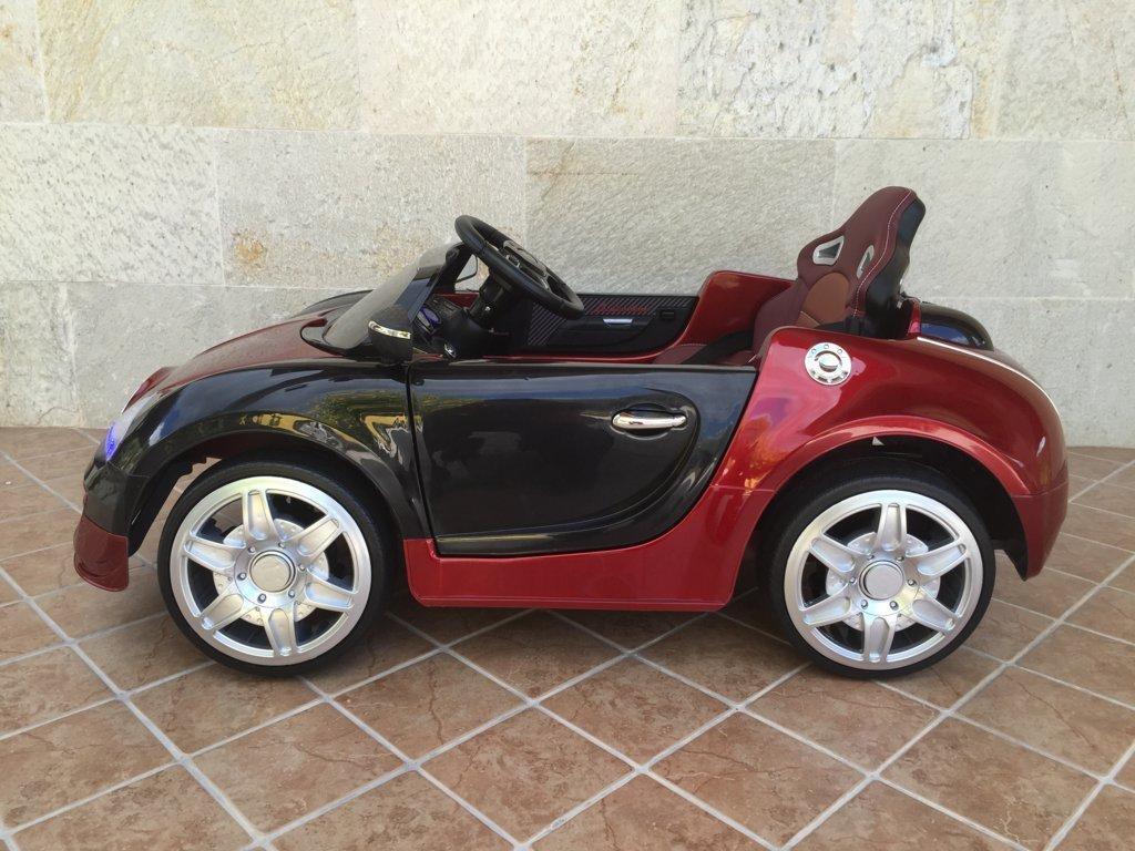 Coche electrico Infantil Bugatti Veyron Style Burdeos Metalizado vista lateral