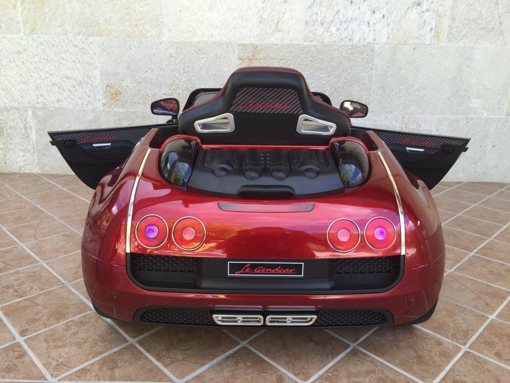 Coche electrico Infantil Bugatti Veyron Style Burdeos Metalizado