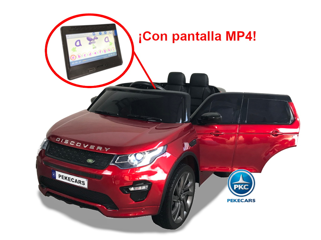Coche eléctrico para niños Land Rover Discovery 12V MP4 rojo metalizado vista principal